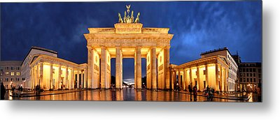 Brandenburg Gate Berlin Panorama Metal Print