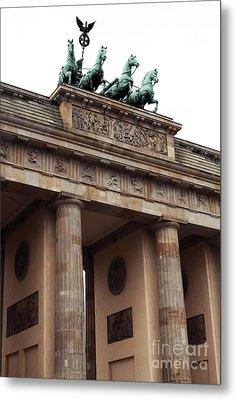 Brandenburg Gate Metal Print by John Rizzuto