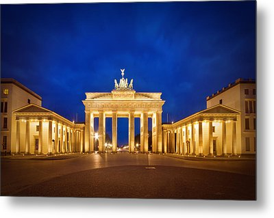 Brandenburg Gate Metal Print by Melanie Viola