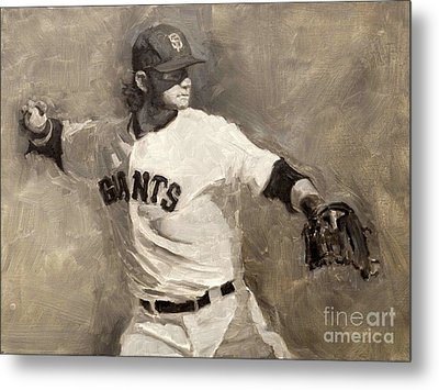 Brandon Crawford Metal Print by Darren Kerr
