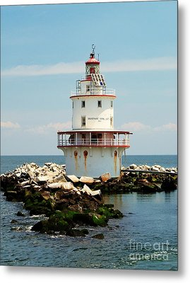Brandywine Shoal  Lighthouse Metal Print