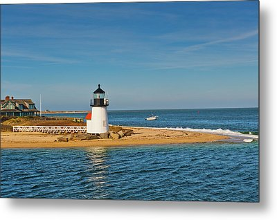 Brant Point Lighthouse Nantucket Metal Print by Marianne Campolongo