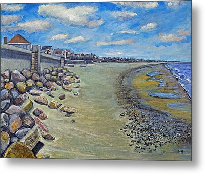 Brant Rock Beach Metal Print by Rita Brown