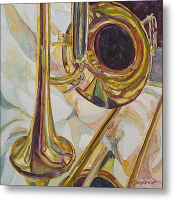 Brass At Rest Metal Print by Jenny Armitage