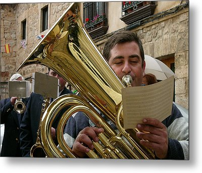 Brass Band-trombone Metal Print