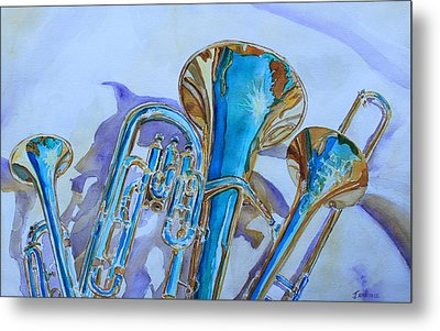 Brass Candy Trio Metal Print by Jenny Armitage