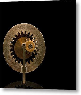 Brass Gears Metal Print by Gary Warnimont