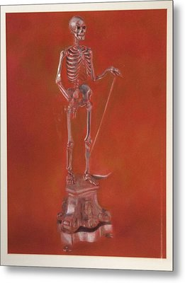 Brass Skeleton Metal Print by Paez  Antonio