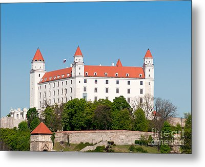 Metal Print featuring the photograph Bratislava Castle by Les Palenik
