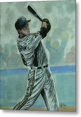 Metal Print featuring the painting Braun by Dan Wagner