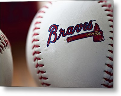 Braves Baseball Metal Print by Ricky Barnard