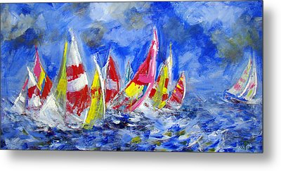 Braving The Heavy Winds Metal Print by Walter Fahmy