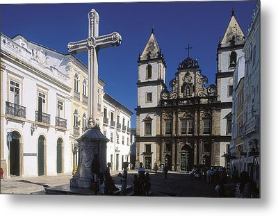 Brazil. Salvador. Church Of Sao Metal Print by Everett