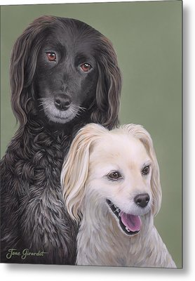 Brea And Randy Metal Print by Jane Girardot