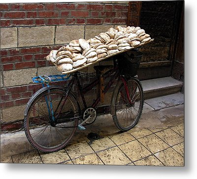 Metal Print featuring the photograph Bread To Go In Cairo by Jacqueline M Lewis