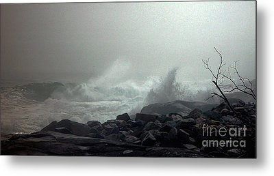 Break In The Storm Metal Print by Christopher Mace