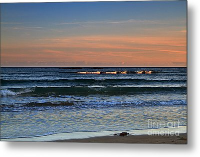 Breakers At Sunset Metal Print by Louise Heusinkveld