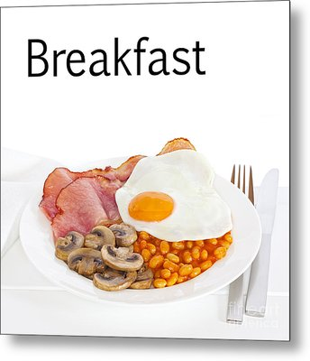 Breakfast Concept Metal Print