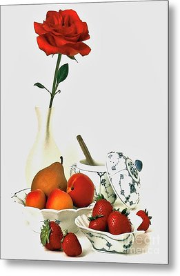 Metal Print featuring the photograph Breakfast For Lovers by Elf Evans