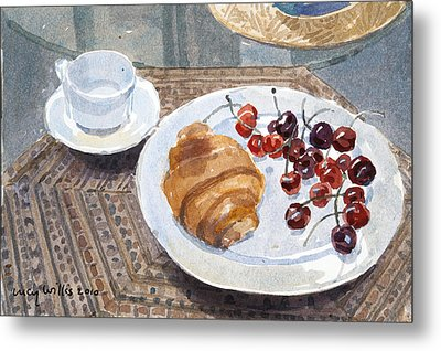 Breakfast In Syria Metal Print by Lucy Willis