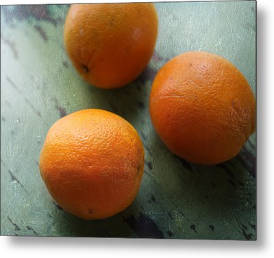 Breakfast Oranges II Metal Print