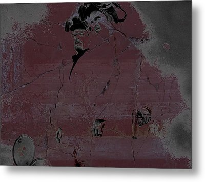 Metal Print featuring the digital art Breaking Bad Concrete Wall by Brian Reaves