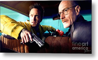 Breaking Bad Metal Print by Paul Tagliamonte