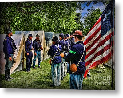 Breaking Camp - Civil War Metal Print by Lee Dos Santos