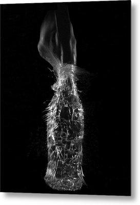 Breaking Glass Metal Print by Alfredo Martinez