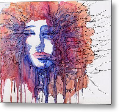 Metal Print featuring the painting Breaking Out Loud by Rebecca Davis