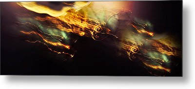 Breakthrough. Empowered By Light Metal Print by Jenny Rainbow