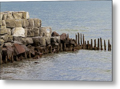 Metal Print featuring the photograph Breakwater by Ricky L Jones