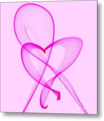 Breast Cancer Awareness . Love Metal Print by Renee Trenholm