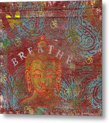 Breathe Buddha Metal Print