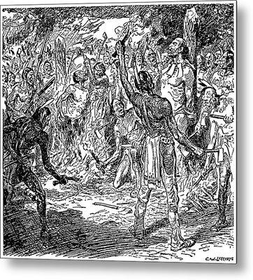Brebeuf & Lalemant, 1649 Metal Print by Granger