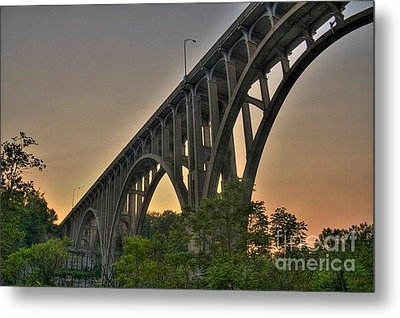 Metal Print featuring the photograph Brecksville Arched Bridge by Jim Lepard
