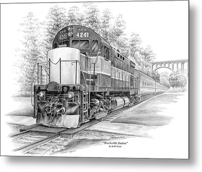 Metal Print featuring the drawing Brecksville Station - Cuyahoga Valley National Park by Kelli Swan