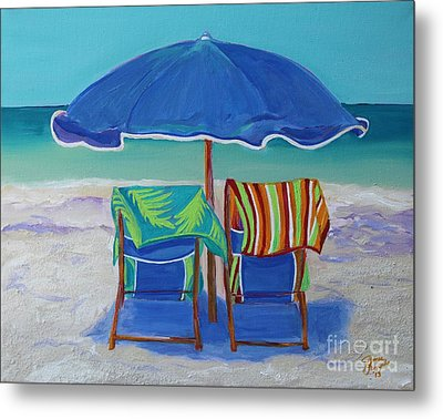 Breezy Beach Day Metal Print by Jeanne Forsythe