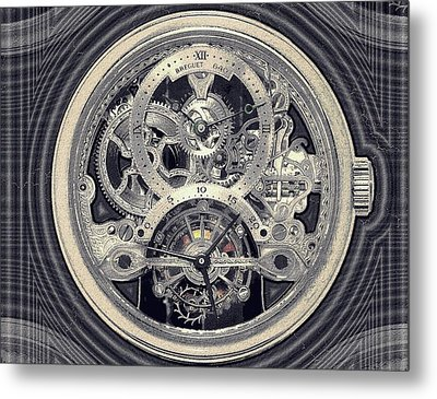 Breguet Skeleton Metal Print