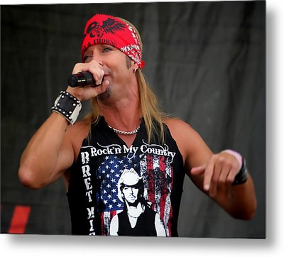 Bret Michaels In Philly Metal Print by Alice Gipson