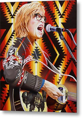 Metal Print featuring the painting Brett Dennen by Joshua Morton