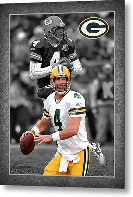 Brett Favre Packers Metal Print