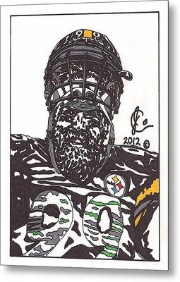 Brett Keisel 2 Metal Print by Jeremiah Colley