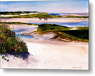 Metal Print featuring the painting Brewster Ebb Tide by Karol Wyckoff