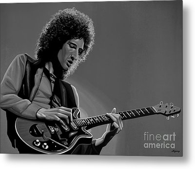 Brian May Of Queen Metal Print