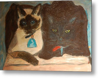 Brian's Cats Metal Print by Carolyn Donnell