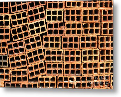 Brick Abstract Metal Print by Vivian Christopher