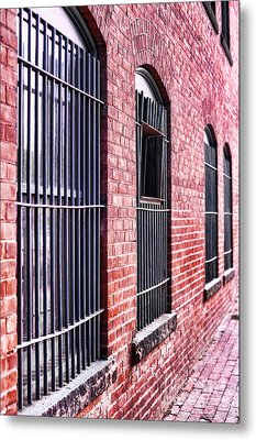 Brick Alley Metal Print by HD Connelly