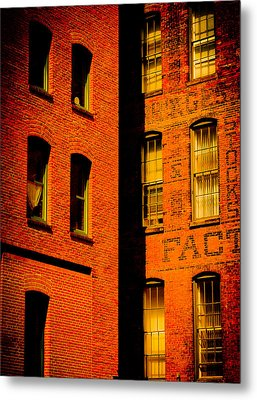 Brick And Glass Metal Print by Matthew Blum