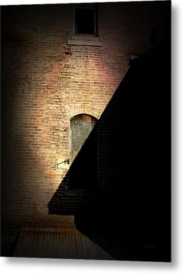 Brick And Shadow Metal Print by Cynthia Lassiter